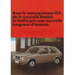 Catalogue / Leaflet VW Golf...