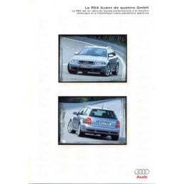 Catalogue / Sheet Audi RS4...
