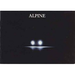 Catalogue / brochure ALPINE...