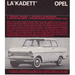 Catalogue / Sheet OPEL...