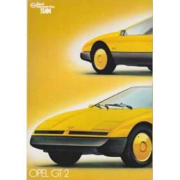 Catalogue / Poster OPEL GT...