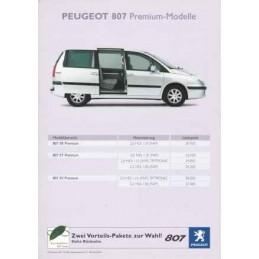 Catalogue / Sheet PEUGEOT...