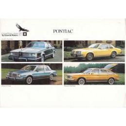 Catalogue / Sheet Pontiac...