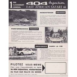 Catalogue / Sheet PEUGEOT...