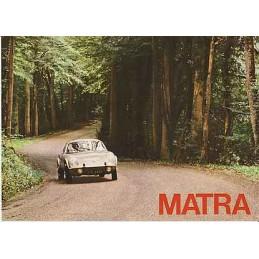 Catalogue / Sheet MATRA...