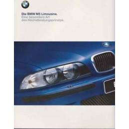 Catalogue / Brochure BMW M5...