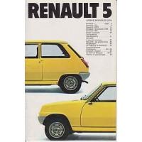 RENAULT 5 1972-1984