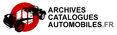 eShop Archives & Catalogues Automobiles